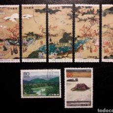 Sellos: JAPÓN YVERT 2145/51 SERIE COMPLETA USADA 1994 PINTURAS. 1200 AÑOS DE KYOTO. PEDIDO MÍNIMO 3 €. Lote 244628050