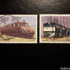 Sellos: JAPÓN YVERT 1848/9 SERIE COMPLETA USADA 1990. TRENES. PEDIDO MÍNIMO 3 €. Lote 245287500