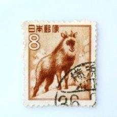 Sellos: SELLO POSTAL JAPÓN 1952, 8 YEN, SEROW JAPONÉS (CAPRICORNIS CRISPUS) , USADO. Lote 246229375
