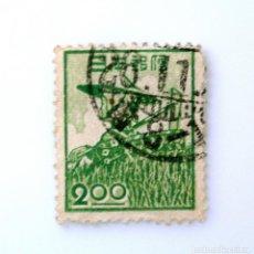 Sellos: SELLO POSTAL JAPÓN 1951, 2 YEN, CAMPESINA ,USADO. Lote 246237635
