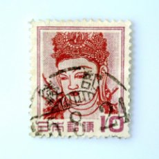 Sellos: SELLO POSTAL JAPÓN 1953, 10 YEN, KANNON BOSATSU (PINTURA MURAL) - KONDO HALL, NARA, USADO. Lote 246259045