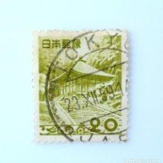 Sellos: SELLO POSTAL JAPÓN 1954, 20 YEN, KONJIKI-DŌ DEL TEMPLO CHŪSON-JI - IWATE PREF. , USADO. Lote 247471290