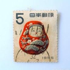 Sellos: SELLO POSTAL JAPÓN 1954, 5 YEN, SALUDOS DE AÑO NUEVO: KAGA HACHIMAN-OKIAGARI MUÑECA - KANAZAWA USADO. Lote 249193920
