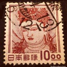 Sellos: JAPÓN - FAUNA, FLORA AND NATIONAL TREASURES (1952-68) - KANNON BOSATSU (WALL PAINTING) - KONDO HALL,. Lote 288129238