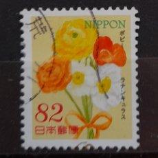 Sellos: JAPON FLORES SELLO USADO. Lote 296069558
