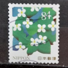 Sellos: JAPON FLORES SELLO USADO. Lote 296069593