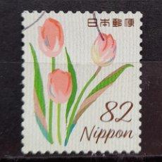 Sellos: JAPON FLORES SELLO USADO. Lote 296069598