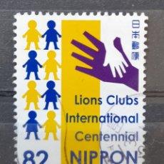 Sellos: JAPON 2017 ANIVERSARIO LIONS CLUBS INTERNATIONAL SELLO USADO. Lote 296764090
