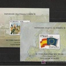 Sellos: PRECIOSA SERIE DE HOJITAS RECUERDO DE EUROPA 78. Lote 8186745