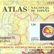 Sellos: 195-3388. SELLOS ESPAÑA NUEVOS. H.B. CARTOGRAFIA. AÑO 1995. Lote 29228917