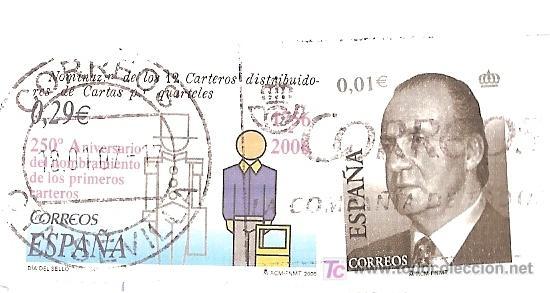 30 CÉNTIMOS DE EURO. PEGADOS EN UN PAPEL Y MATASELLADOS. 0,29 Y 0,01 CENTS. (Sellos - España - Juan Carlos I - Desde 1.975 a 1.985 - Usados)