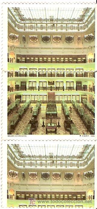 3 SELLOS SIN USAR. FNMT, 1994. MUSEO GEOMINERO. (Sellos - España - Juan Carlos I - Desde 1.986 a 1.999 - Usados)