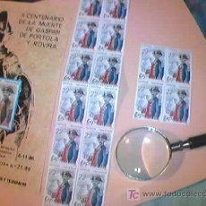 Sellos: II CENTENARIO DE LA MUERTE DE GASPAR DE PORTOLA Y ROVIRA. 6-11-86. LOTE DE 20 SELLOS Y DIPTICO.. Lote 21746872
