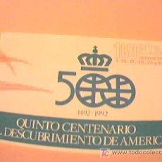 Sellos: QUINTO CENTENARIO DEL DESCUBRIMIENTO DE AMERICA. 6 SELLOS DE 7, 12, 17, 30, 35 Y 45 PTS. ESPAÑA.. Lote 9425823