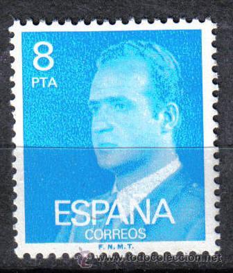 ESPAÑA 1977 - 8 P EDIFIL 2393. JUAN CARLOS I. NUEVO SIN CHARNELA (Sellos - España - Juan Carlos I - Desde 1.975 a 1.985 - Nuevos)