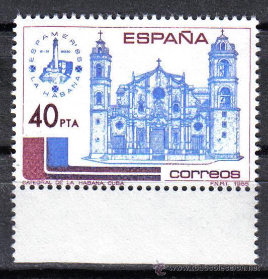 ESPAÑA 1985 - 40 P EDIFIL 2782. ESPAÑA AMERICA ESPAMER - 85. NUEVO SIN CHARNELA (Sellos - España - Juan Carlos I - Desde 1.975 a 1.985 - Nuevos)