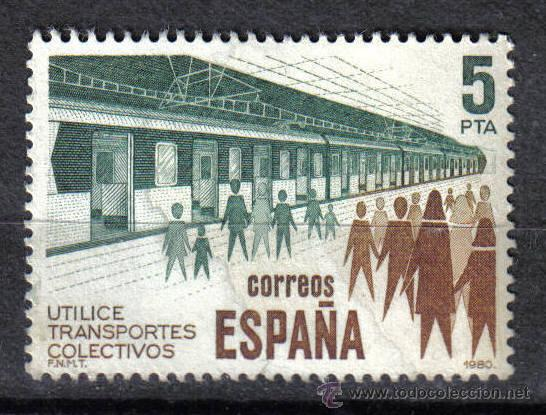 ESPAÑA 1980 - 5 P EDIFIL 2562. TRANSPORTE COLECTIVO : METRO. NUEVO SIN CHARNELA (Sellos - España - Juan Carlos I - Desde 1.975 a 1.985 - Nuevos)