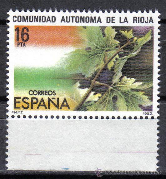 ESPAÑA 1983 - 16 PTS EDIFIL 2689 - ESTATUTO DE AUTONOMIA DE LA RIOJA - NUEVO SIN CHARNELA (Sellos - España - Juan Carlos I - Desde 1.975 a 1.985 - Nuevos)