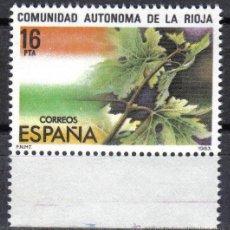 Sellos: ESPAÑA 1983 - 16 PTS EDIFIL 2689 - ESTATUTO DE AUTONOMIA DE LA RIOJA - NUEVO SIN CHARNELA. Lote 8284740