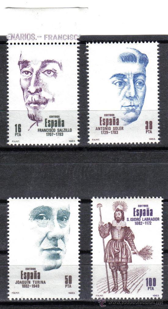 ESPAÑA 1983 - SERIE PERSONAJES EDIFIL 2705 A 2708 - NUEVO SIN CHARNELA (Sellos - España - Juan Carlos I - Desde 1.975 a 1.985 - Nuevos)