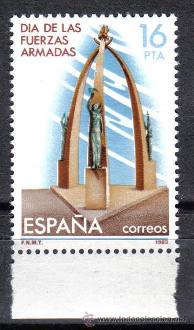 ESPAÑA 1983 - 16 PTS EDIFIL 2710 - DIA DE LAS FUERZAS ARMADAS - NUEVO SIN CHARNELA (Sellos - España - Juan Carlos I - Desde 1.975 a 1.985 - Nuevos)