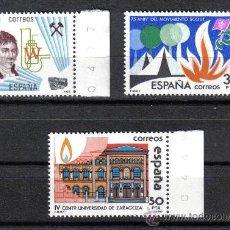 Sellos: ESPAÑA 1983 - SERIE GRANDES EFEMERIDES - EDIFIL 2715 A 2717 - NUEVO SIN CHARNELA. Lote 8284950