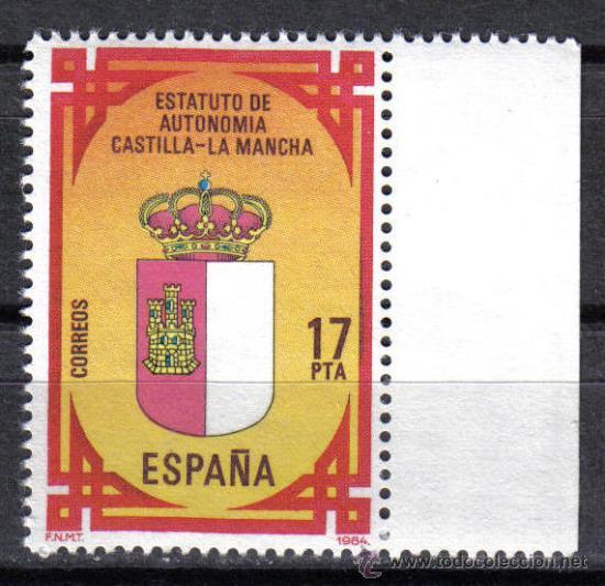 ESPAÑA 1984 - 17 PTS EDIFIL 2738 - ESTATUTO DE AUTONOMIA CASTILLA LA MANCHA - NUEVO SIN CHARNELA (Sellos - España - Juan Carlos I - Desde 1.975 a 1.985 - Nuevos)