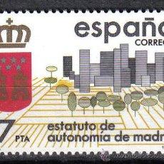 Sellos: ESPAÑA 1984 - 17 PTS EDIFIL 2742 - ESTATUTO DE AUTONOMIA MADRID - NUEVO SIN CHARNELA. Lote 8285016
