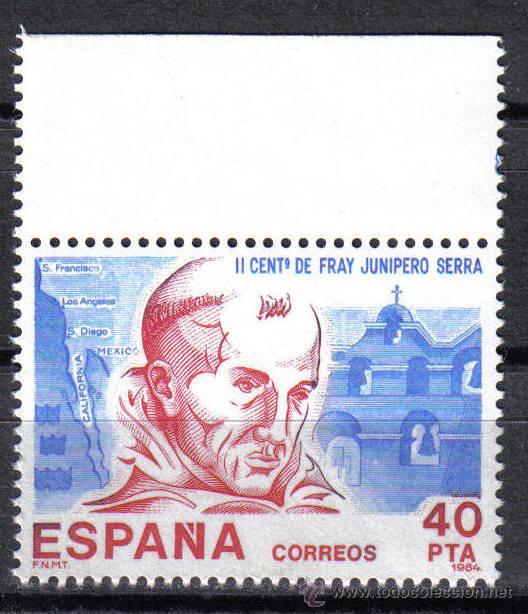 ESPAÑA 1984 - 40 PTS EDIFIL 2775 - AMERICA- ESPAÑA - NUEVO SIN CHARNELA (Sellos - España - Juan Carlos I - Desde 1.975 a 1.985 - Nuevos)