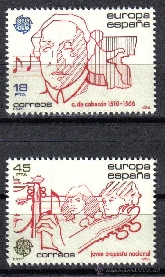 ESPAÑA 1985 - SERIE EUROPA- CEPT EDIFIL 2788 A 2789 - NUEVO SIN CHARNELA (Sellos - España - Juan Carlos I - Desde 1.975 a 1.985 - Nuevos)