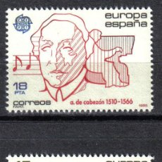 Sellos: ESPAÑA 1985 - SERIE EUROPA- CEPT EDIFIL 2788 A 2789 - NUEVO SIN CHARNELA. Lote 8285364