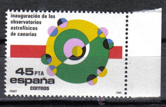 ESPAÑA 1985 - 45 PTS EDIFIL 2802 - OBSERVATORIOS ASTROFISICOS CANARIAS - NUEVO SIN CHARNELA (Sellos - España - Juan Carlos I - Desde 1.975 a 1.985 - Nuevos)