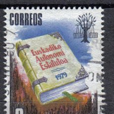 Sellos: ESPAÑA 1979 - 8 P - EDIFIL 2547 - ESTATUTO AUTONOMIA PAIS VASCO - USADO. Lote 8368038