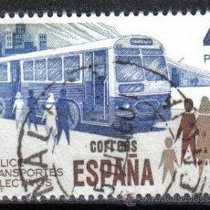 Sellos: ESPAÑA 1980 - 4 P - EDIFIL 2561 - AUTOBUS - USADO. Lote 8368133