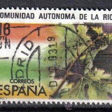 Sellos: ESPAÑA 1983 - 16 P - EDIFIL 2689 - ESTATUTO DE AUTONOMIA LA RIOJA - USADO. Lote 8368693