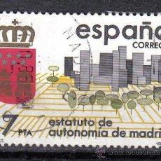Sellos: ESPAÑA 1984 - 17 P - EDIFIL 2742 - ESTATUTO AUTONOMIA MADRID - USADO. Lote 8368753