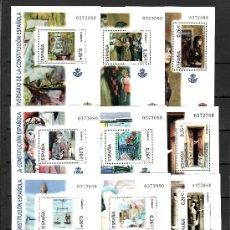 Sellos: .ESPAÑA 4037/46 PERFECTO SIN CHARNELA, XXV ANIVº DE LA CONSTITUCION ESPAÑOLA (LAS 10 HOJAS MISMOS Nº. Lote 32862276