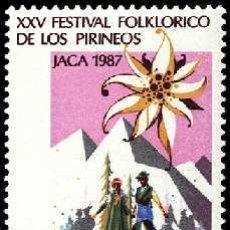 Sellos: ESPAÑA 1987 2910 FESTIVAL JACA. Lote 9235281