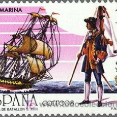 Sellos: ESPAÑA EDIFIL 2885. AÑO 1987. 450 ANIVERS. CREACION CUERPO INF. DE MARINA.. Lote 158708110