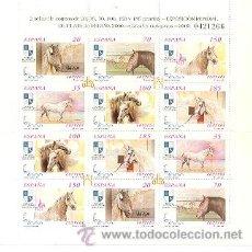 Sellos: 100-3723-8A. MINIPLIEGO EXPOSICIÓN MNDIAL DE FILATELIA. CABALLOS. Lote 8995153