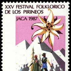 Sellos: ESPAÑA EDIFIL 2910. AÑO 1987. XXV FESTIVAL FOLKLORICO DE LOS PIRINEOS EN JACA.. Lote 9093495