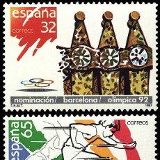 Sellos: ESPAÑA EDIFIL 2908 AÑO 1987.NOMINACION DE BARCELONA COMO SEDE OLIMPICA 1992.. Lote 9093578