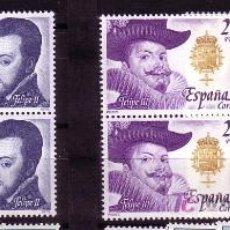 Sellos: REYES DE ESPAÑA-CASA DE AUSTRIA-AÑO 1979-Nº 2552/2556-BLOQUE DE 2. Lote 26803449