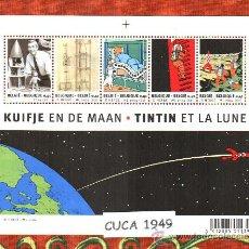 Sellos: BELGICA 2004-75 ANIVERSARIO DE TINTIN - LAMINA 2007 - !!!! NOVEDAD !!!. Lote 27560971