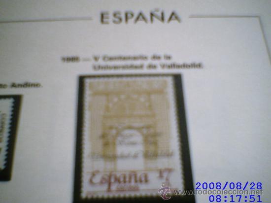 SELLOS DE ESPAÑA. AÑO 1985 MONTADOS EN HOJAS EDIFIL CON FILOESTUCHE (Sellos - España - Juan Carlos I - Desde 1.975 a 1.985 - Usados)