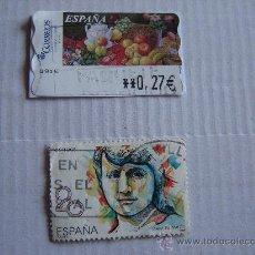 Sellos: DOS SELLOS UNO MARIA DE MAEZTU 1989 Y OTRO FRUTAS. Lote 9999486