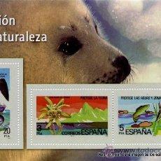 Sellos: REPRODUCCIONES AUTORIZADAS POR CORREOS DE LOS 3 SELLOS___PROTECCION DE LA NATURALEZA. Lote 34931327