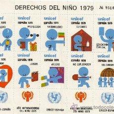 Sellos: HOJA DE VIÑETAS AÑO INTERNACIONAL DEL NIÑO 1979. MADRID.. Lote 10970113