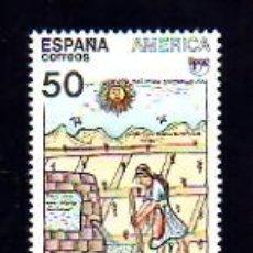 Sellos: EDIFIL 3035. 1989.- SERIE: AMÉRICA (UPAE). PUEBLOS PRECOLOMBINOS (USOS Y COSTUMBRES).. Lote 11849256