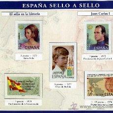 Sellos: HOJA CON REPRODUCCIONES AUTORIZADA POR CORREOS DE JUAN CARLOS I +ENTIENDA. Lote 45695827